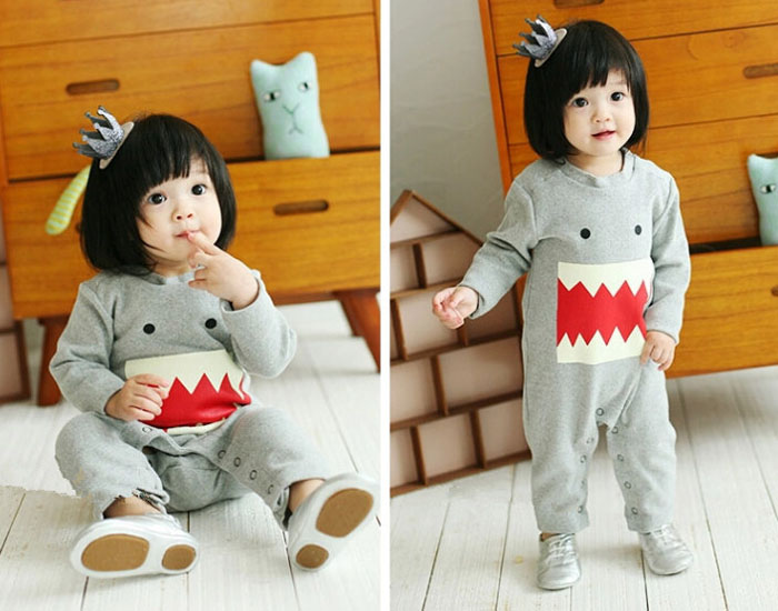 Baby girls outwear grey