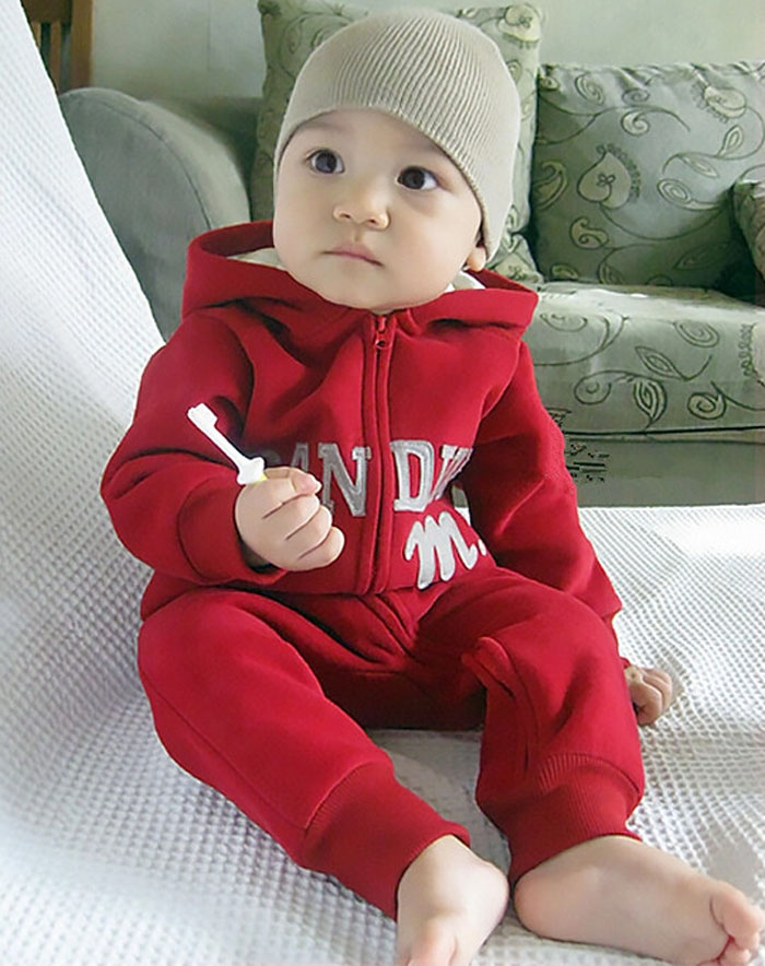 Baby new design red romper