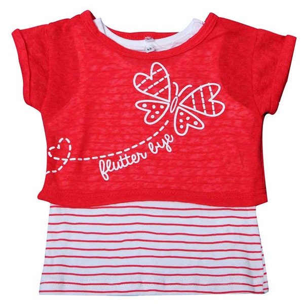 Hot selling baby girl t-shirt red
