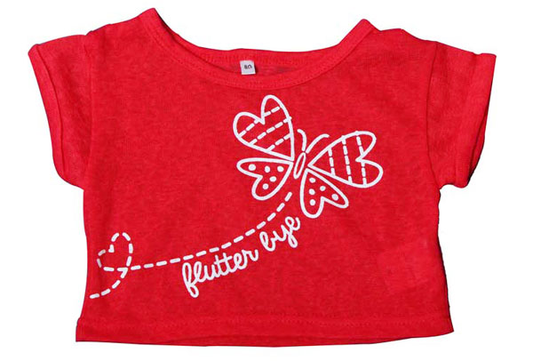 Baby girl t-shirt red outside